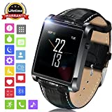 """LEMFO LF20 Bluetooth Smart watch 1.54"""" IPS Screen MTK2502 Heart Rate Monitor SmartWatch for iPhone Android Phone (Black)"""