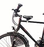 BISOMO SET Fahrrad Kindersitz für vorn wie zu DDR Zeiten für Damen u. Herrenfahrrad (Herren Gr.3 Rahmen Ø 50-70mm)