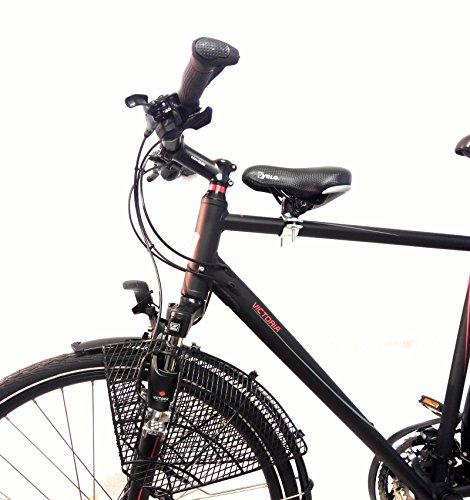 ZRMH Fahrrad Kindersitz für vorn Komplett Set - Herrenrad Gr.1 Rahmen Ø 22mm-35mm