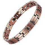 Rainso Magnetarmband reines Kupfer, Herren Damen, Magnettherapie-Armband, Schmerzlinderung