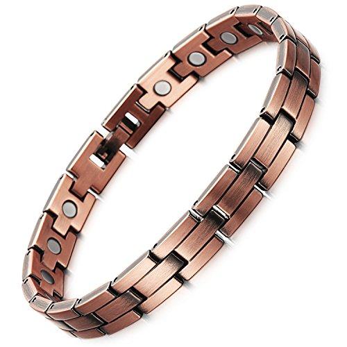 Rainso® Damen Magnetarmband reines Kupfer Armband, Leistungsstarke 3000 Gauß Magneten, mit gratis Geschenk geldbörse
