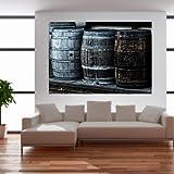 malango® Vintage Whiskyfässer Wandtattoo Tattoo Auto Dekoration Styling Design Aufkleber Fass Whiskey 100 x 153 cm digitalgedruckt digitalgedruckt 100 x 153 cm