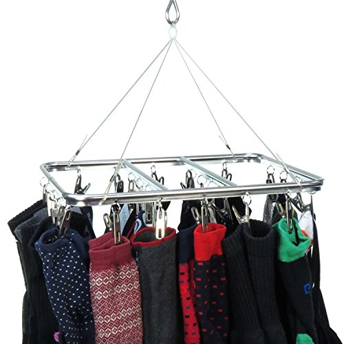 hangerworld-26-peg-stylish-aluminium-metal-indoor-sock-underwear-dryer-airer