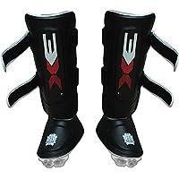 Espinilleras de pierna curvada, antipatadas, para artes marciales, deportes como hockey o rugby y diferentes deportes de lucha, S/M