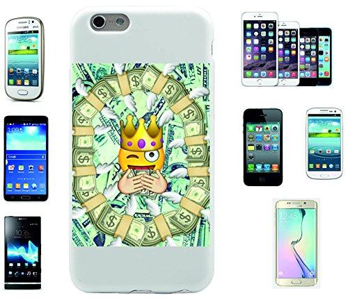 """Smartphone Case Apple IPhone 7+ Plus """"Reicher Smiley mit Dollar Euros König"""", der wohl schönste Smartphone Schutz aller Zeiten."""