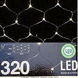 320 LED *PREMIUM* LICHTERNETZ 3x1,5 METER ~WARMWEISS~LICHTERVORHANG~WEIHNACHTENSBELEUCHTUNG~IP44~ LICHTERKETTE
