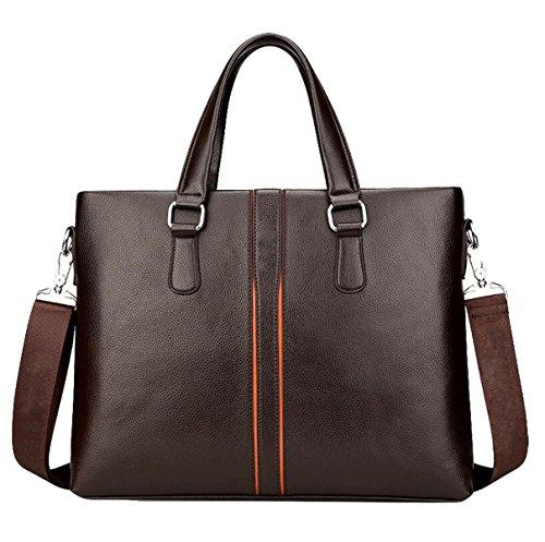 Männer Handtasche Großer Kapazitäts Schultertasche Kuriertasche Horizontale Business Bag Computer Tasche Freizeit Mode Brown1
