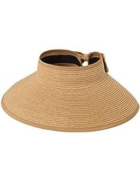 569f7cee Leisial Mujer Sombrero Sol Gorro Ancho De Sol Color Sólido Diseño Elegante  del Bowknot Casquillo De