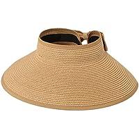 Skyeye Sra Adulto Parasol Gorra de protección UV Sombrero de Sol Plegable