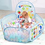 #5: Halo Nation Ball Pool for Kids Hexagonal Shape ( Big Size) - 50 Balls Included - Colourful Pop-up Kids Play Tent House - Ball Oceanblue