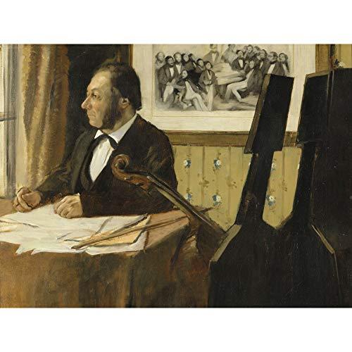 Edgar Degas The Cellist Pilet Large Art Print Poster Wall Decor Premium Mural Große Kunst Wand Deko