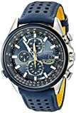 CITIZEN ECO-DRIVE BLUE ANGELSATOMIC HERREN 43MM CHRONOGRAPH DATUM UHR AT8020-03L