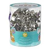 Wilton 2308-5008 Ostern Cookie Cutter Badewanne, Silber, Set von 18, Weißblech, 15.01 x 14.53 x 16.64 cm