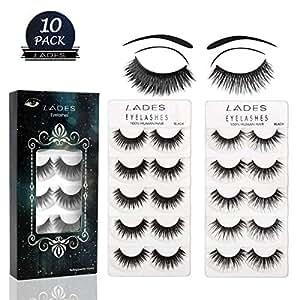 e0dccc99fb5 False Eyelashes - 10 Pair Multipack Natural 3D False Eyelashes ...