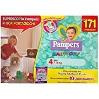 Pampers Baby Dry taille 4(7–18kg) 171couches avec boîte Boutique Jouet Cadeau