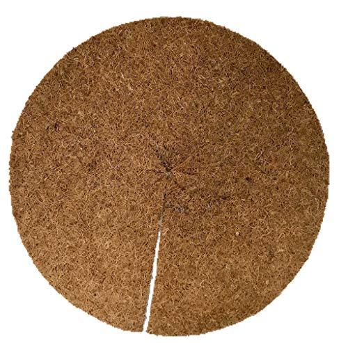 Mulchscheiben aus 100 % Kokos, 10er Pack, Durchmesser: 40 cm, ca. 0,7 cm dick, (EUR 3,20 je Stück), Matte geeignet als Unkrautschutz, Winterschutz, Pflanzenschutz, 100% biologisch abbaubar, nachhaltig