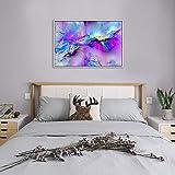 Amphia - Wolken-Farbausgangsdekoration-Segeltuchmalerei des abstrakten Ölgemäldes der bunten.Gerahmtes modernes mehrfarbiges blaues Segeltuch Wand-abstrakte Kunst-Bild-großer Druck