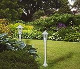 Aluminium Stehleuchte Kingston, weiß für den Außenbereich Wegeleuchte Gartenbeluchtung