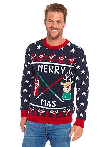 LOOKS FUNNY Premium Lustig Weihnachtspullover Weihnachtspulli Strickpullover Unisex Damen Herren mit weihnachtlichen Motiven-XXL