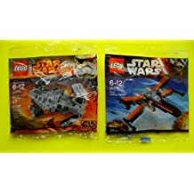 Lego Star Wars Poe's X-Wing Fighter & Lego Star Wars Tie Advanced Prototype set - lego First Order Polybag 30275 + 30278 Building Set by LEGO