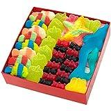 """Caja Regalo """"Asturias"""", con dos (2) capas de Chuches y Marshmallows: 70 golosinas, 450 gr."""