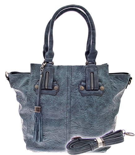 XXL-TASCHE Raumwunder die perfekte City Damen-Umhängetasche Schulter Tasche Messenger Bag Neu weiblich lässige Tasche Henkeltasche Beuteltasche Tragetasche modisch (Blue) (Tasche Gucci Tasche, Schulter)