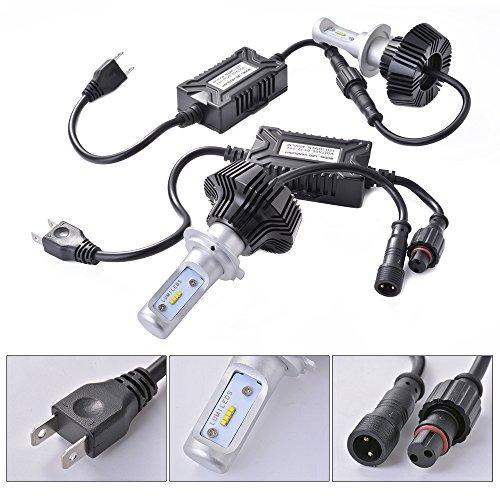 XCSOURCE 2pcs Kit Lampe Phare Avant 6000K Ampoule Faisceau Blanc Puces LED 80W Total 9600LM H7 LD904
