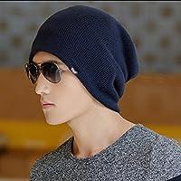 sheng Chapeaux Hiver hommes chapeau de laine laine tricot chapeau chaud cache-oreilles Baotou casquettes noir