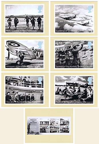 2015Battle of Britain 75TH Anniversary Royal Mail-Set di 404menta (set of 7Royal Mail Postcards)