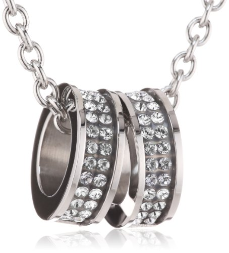 Messing Swarovski Strass Crystal (Dyrberg/Kern Damen-Edelstahl Halskette Fermi SS Crystal 333819)