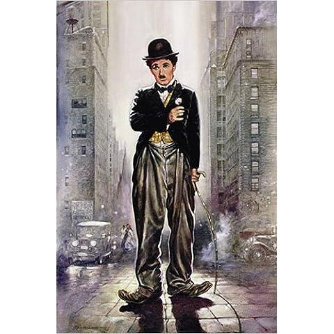 Empire Renato, Kunst - Luce della citta - de lino con diseño de Charlie Chaplin - 62 x 93 cm