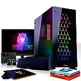 Fierce Warlord RGB Gaming PC Bundeln - Schnell 6 x 4.6GHz Hex-Core Intel Core i5 8600K, All-In-One Flüssigkühler, 1TB Seagate FireCuda Solid State Hybrid Drive, 16GB von 2666MHz DDR4 RAM / Speicher, AMD Radeon RX 560 2GB, Gigabyte B360M AORUS GAMING 3 Hauptplatine, GameMax Onyx RGB Computergehäuse, HDMI, USB3, Wi - Fi, Perfekt für Wettkampfspiele, Windows 10 installiert, Tastatur (QWERTZ), Maus, 24-Zoll-Monitor, Lautsprecher, 3 Jahre Garantie 1037913