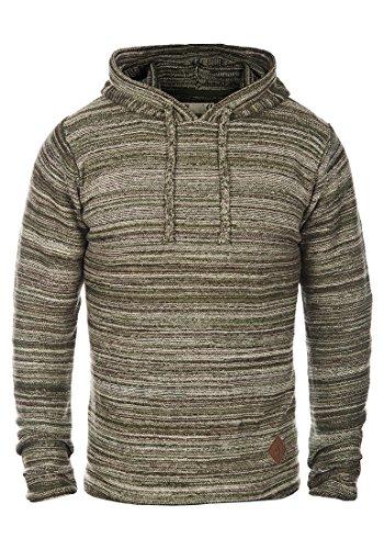 SOLID Macall Herren Kapuzenpullover aus 100% Baumwolle Meliert, Größe:M, Farbe:Duffel Bag Green (3590)