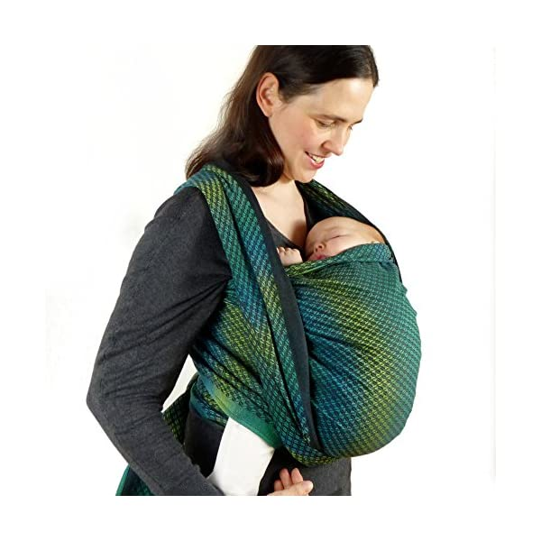 Didymos Woven Baby Wrap, Facett Tethys, Size 7, 520 cm, Black/Green Didymos Various carrying positions, in front, sideways an on the back Special, diagonally stretchable cloth to give optimal support Holds your baby in the anatomically correct posture 3