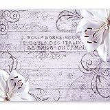 murando - Fototapete Blumen Lilien 350x256 cm - Vlies Tapete - Moderne Wanddeko - Design Tapete - Wandtapete - Wand Dekoration - Holz Blume Ornament b-A-0170-a-c