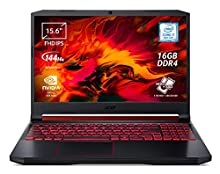 "Acer Nitro 5 AN515-54-75AD Notebook Gaming con Processore Intel Core i7-9750H, RAM 16GB DDR4, 256GB PCIe SSD, 1TB HDD, Display 15.6"" FHD IPS LED LCD 144Hz, NVIDIA GeForce GTX 1650 4GB, Windows 10 Home"