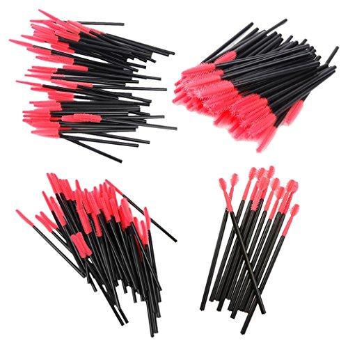 200pcs 4 Types Pinceaux à Cils Jetables Brosse à Mascara Outil de Maquillage