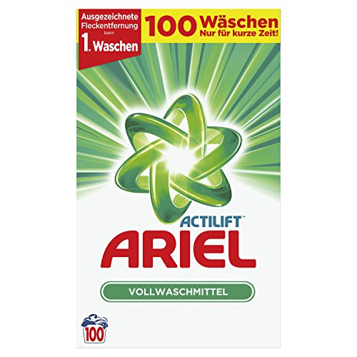 Ariel Vollwaschmittel Pulver, 6500g, 100Waschladungen