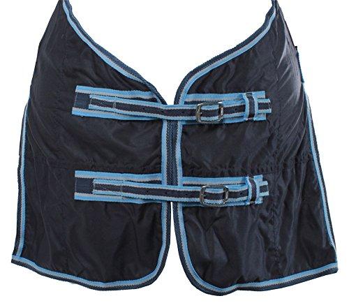 Horka Equestrian Pferd Pony Sommer Normal Hals Teppich leicht und robuster Bezug, Blue/Sky Blue -