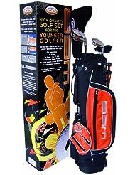 Go Junior Web 9-11 Years (133-152cm) - Juego completo de palos de golf, color negro / naranja, talla 9-11 Years (133-152cm)