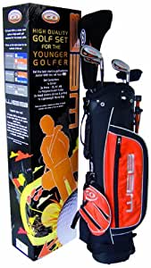 Go Junior Web Kit de golf Noir/Orange 9-11 Years (133-152cm)