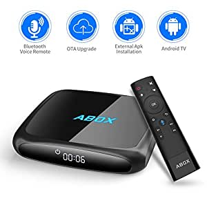 Android TV Box, 2018 ABOX The 4th Generation A4 Android 7.1 UHD 4k Smart TV Box with Voice Remote, Wi-Fi, Bluetooth 2GB RAM, 16GB ROM