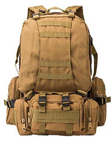 HWB/ 50 L Rucksack Camping & Wandern Draußen Multifunktions Schwarz / Braun / Tarnfarben Nylon Other acu color