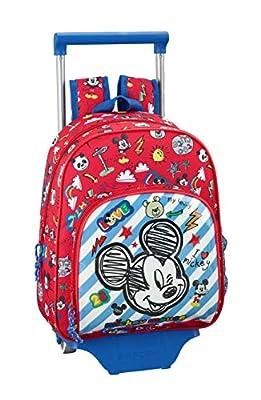 "Mickey Mouse ""Maker"" Oficial Mochila Infantil Con Carro Safta 705 por Safta"
