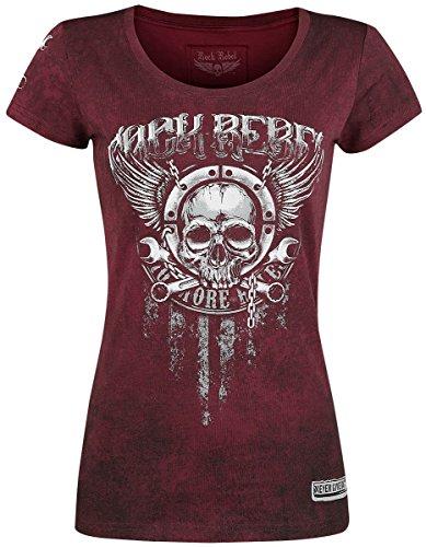 Rock Rebel by EMP Trust The Mechanic Girl-Shirt Bordeaux/Schwarz Bordeaux/Schwarz