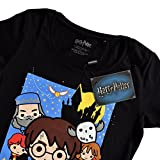 Harry Potter T-Shirt pour Femme Stone of The Wise Affiche de Chibi Elven Forest Cotton Noir