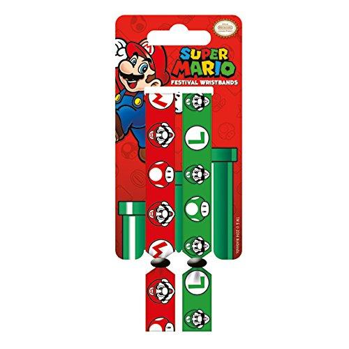 Super Mario y Luigi Doble Festival Pulsera Set