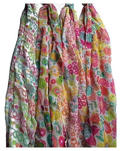 Spring Fling Schal mit Blumenmuster und Muster, 4 Karat