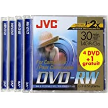 JVC PACK de 5 DVD-RW Camescope 1,4 Go 30mn re-inscriptible vitesse X2
