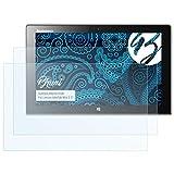 Bruni Schutzfolie für Lenovo IdeaTab Miix 2 11 Folie, glasklare Bildschirmschutzfolie (2X)